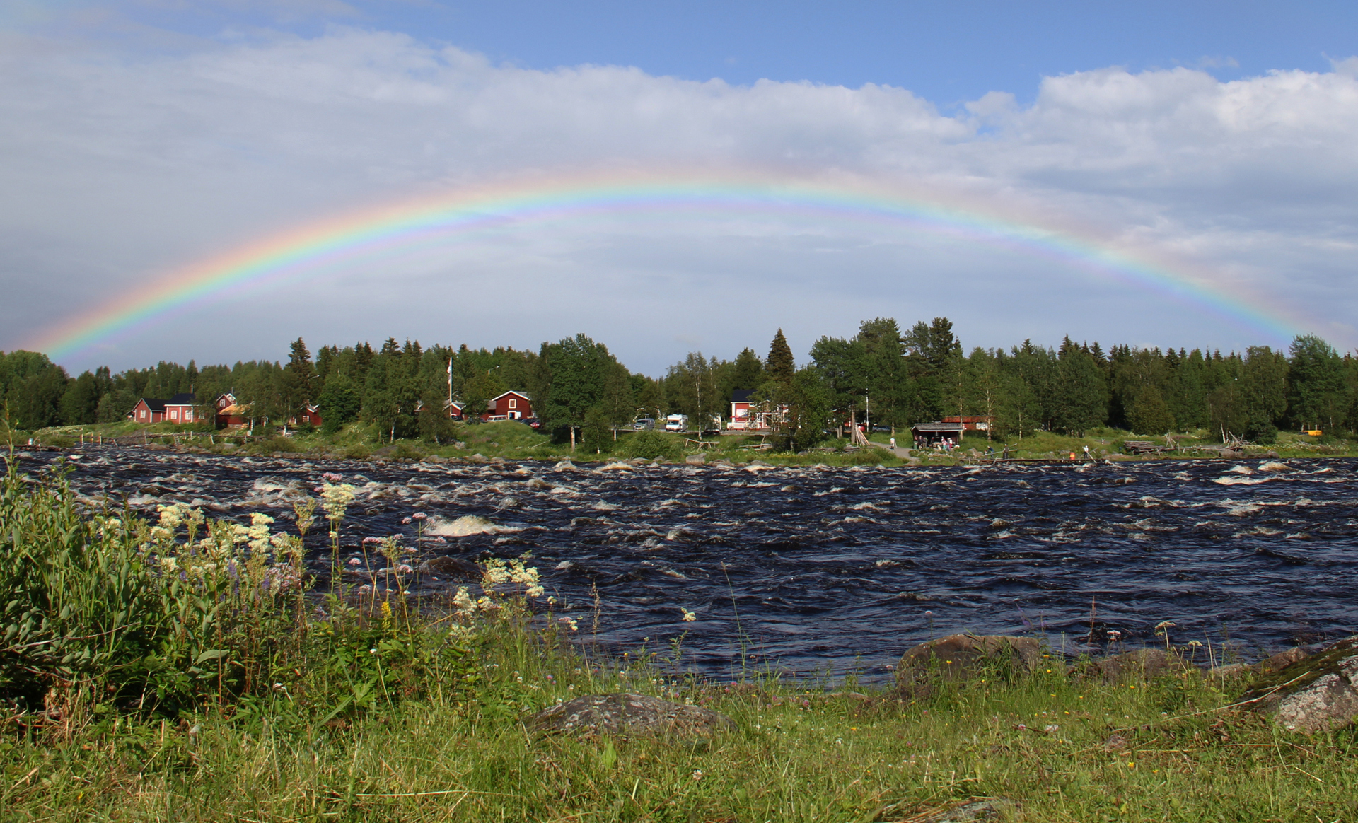 Fishing on the Tornionjoki River